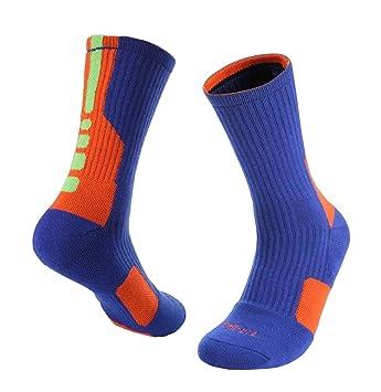 Calcetines de baloncesto / fútbol / Running Boy calcetines usables de mediados de becerro: Amazon.es: Deportes y aire libre