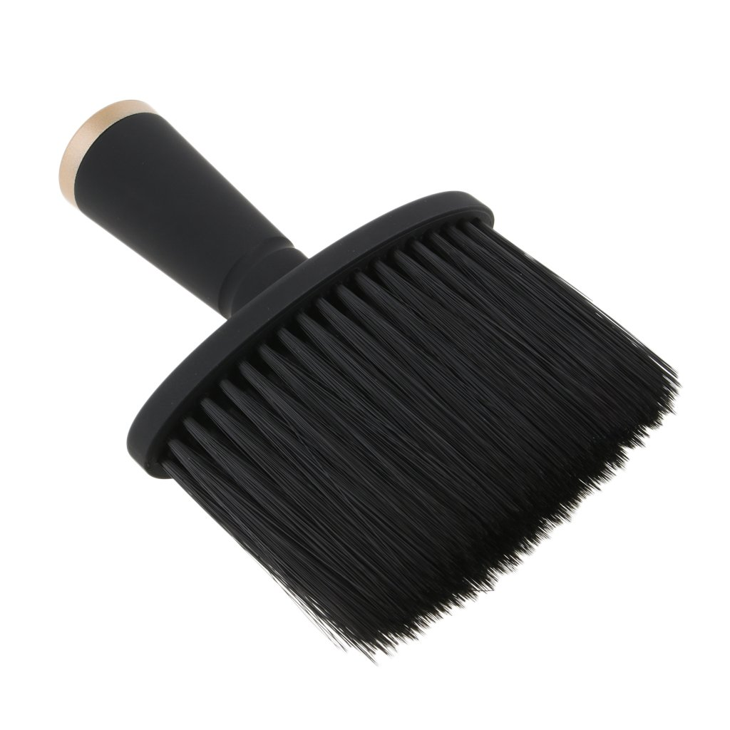 SM SunniMix Soft Neck Duster Brush For Salon Stylist Barber Hair Cutting Makeup Tool - Gold, as described
