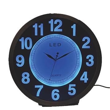 GAOHL Metal cuarzo Mute Led Living comedor hogar creativo reloj de pared Digital 12 pulgadas , 2: Amazon.es: Hogar