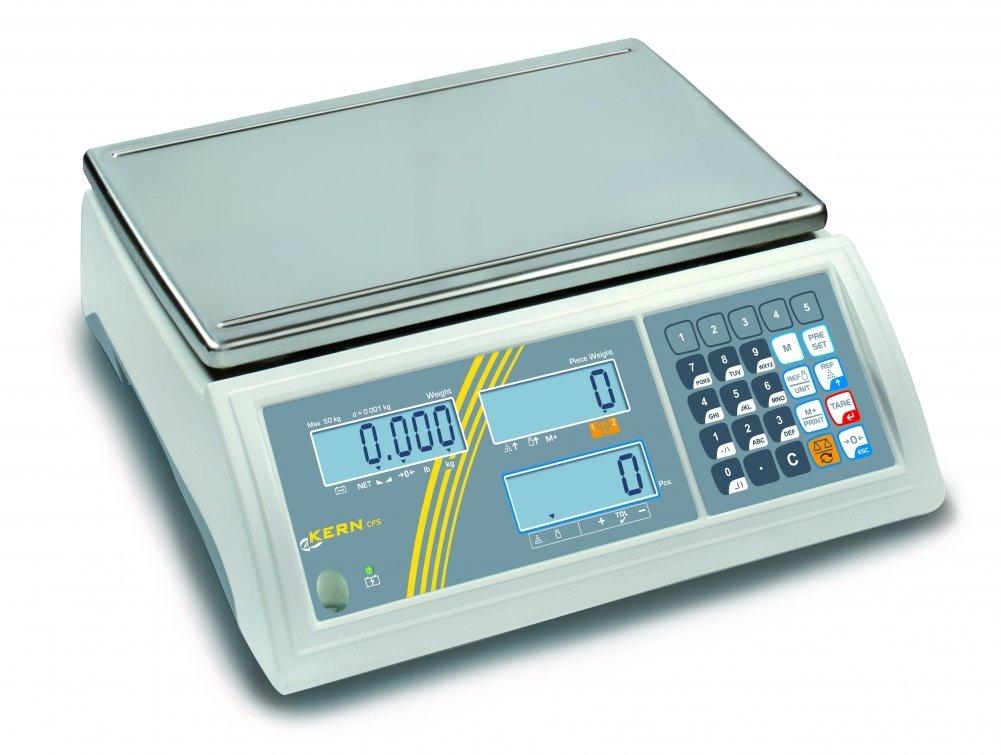 KERN winc50/Serie CFS cuentapiezas Waage 50/kg Bereich-W/ägezelle Skala 1/g 370/mm x 240/mm Plattform