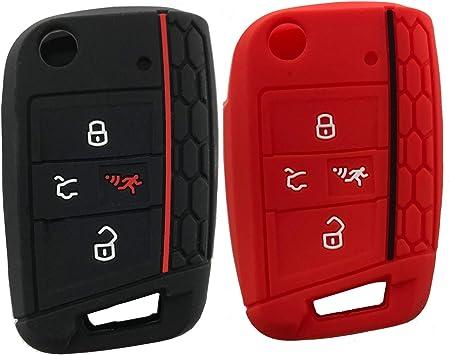 Llave de Mando a Distancia sin Llave Repuesto Carcasa para Llave de Coche con 3 Botones para VW Volkswagen Passat Mk7 B6