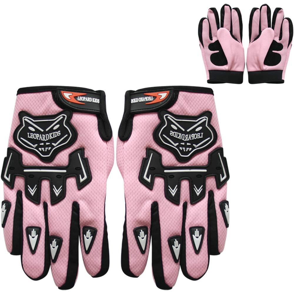 53-54cm Gafas ECE Homologado 7cm y Guantes y L Leopard LEO-X19 Casco de Motocross para Ni/ños Azul L