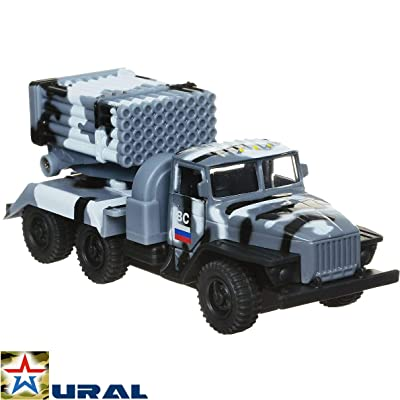 Russian Toys Diecast Metal Model Truck Toy Ural Grad BM-21 M1964 Multiple Rocket Launcher Die-cast: Toys & Games