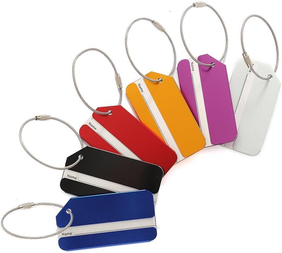 M.Q.L. bolso de equipaje de viaje Equipaje etiquetas maleta aluminio metal Etiqueta identificacion Identificar Private tags etiquetas 6 colores diferentes (6 colors for blank)
