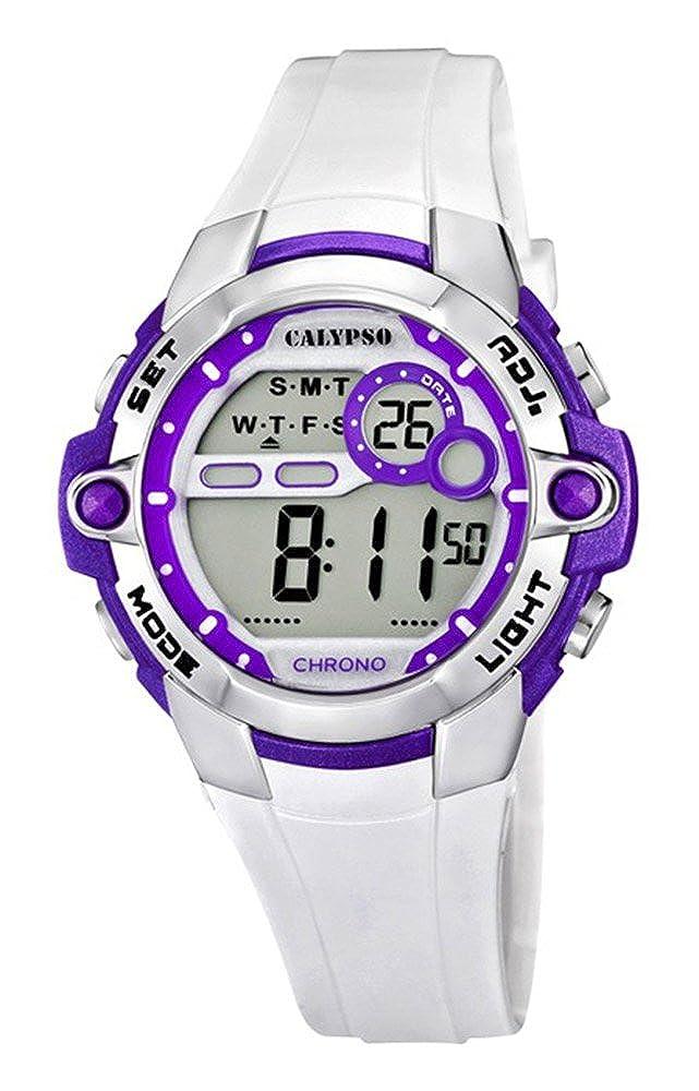 Calypso Reloj de pulsera mujer Reloj niña Reloj digital Chrono de alarma reloj 10 ATM K5617/3: Amazon.es: Relojes