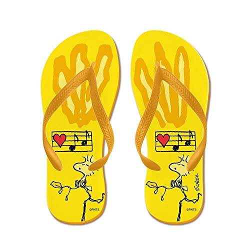 18b8f37d316b92 Image Unavailable. Image not available for. Color  CafePress - Woodstock  Footprint - Flip Flops ...