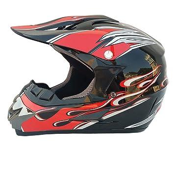 WZFC Casco Motocross Homologado Casco De Moto Infantil Cross Integral Enduro Infantil para Mujer Hombre Adultos