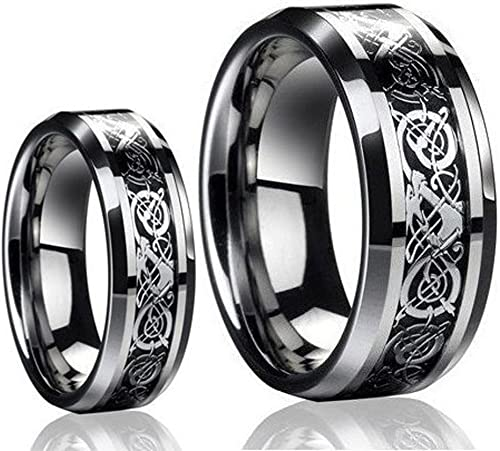 Tungsten Jeweler TJ9-LADIES6MM-MEN8MM-DRAGON product image 9
