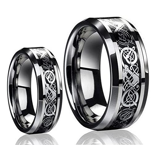 Tungsten Jeweler TJ8-LADIES6MM-MEN8MM-DRAGON product image 1