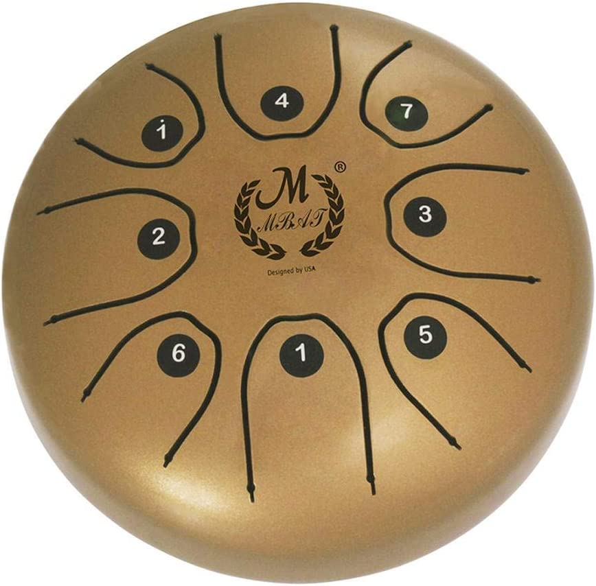 Steel Tongue Drum 5.5 Inch Mini Steel Tongue Drum Handpan Brahma Drum