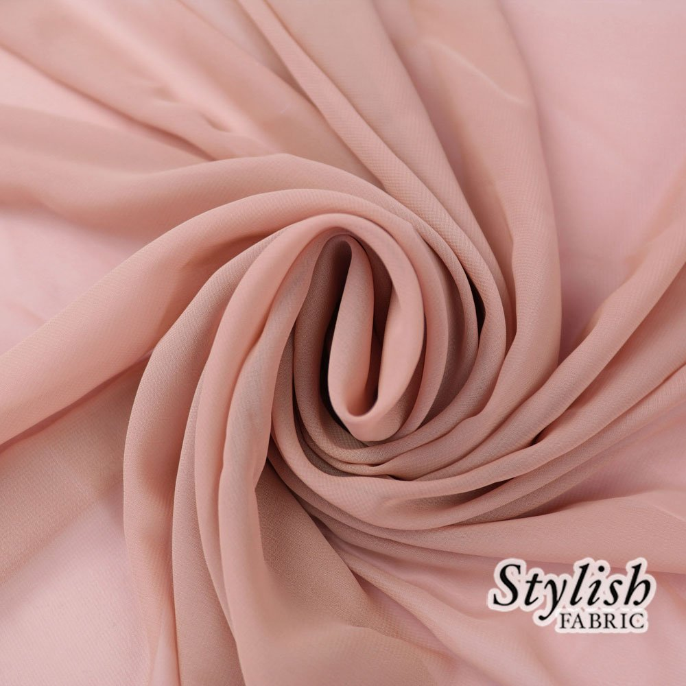 58'' MAUVE Solid Color Sheer Chiffon Fabric by the Bolt - 100 Yards (WHOLESALE PRICE)