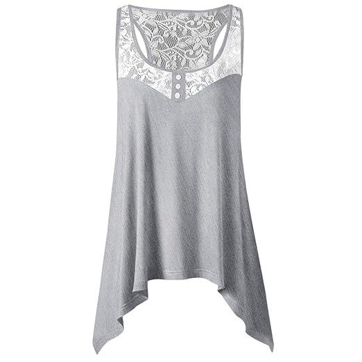 49be7e18 Lookatool 2018 Fashion Tops, Ladies Summer Irregular Lace Stitching ...