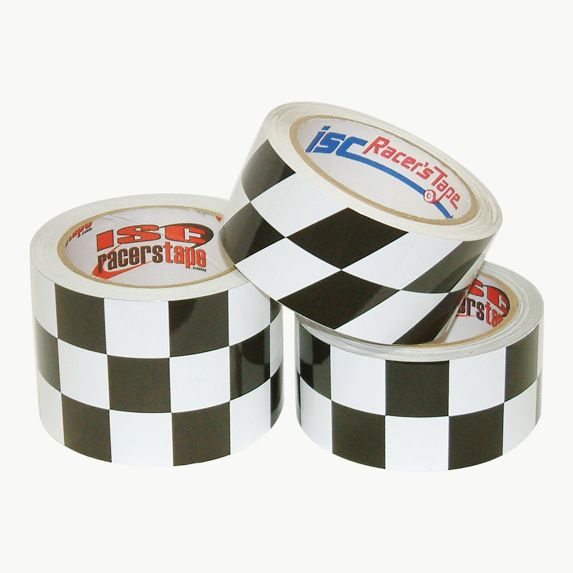 """ISC RACERS DUCT GAFFERS TAPE Checkered Checkerboard 2/""""x45/' Roll RT5001"""