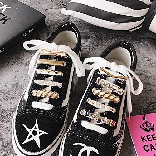 Kercisbeauty - Juego de 5 pinzas para zapatos con diamantes de imitación para decoración de zapatos, con piedras preciosas, zapatillas para mujer, ...