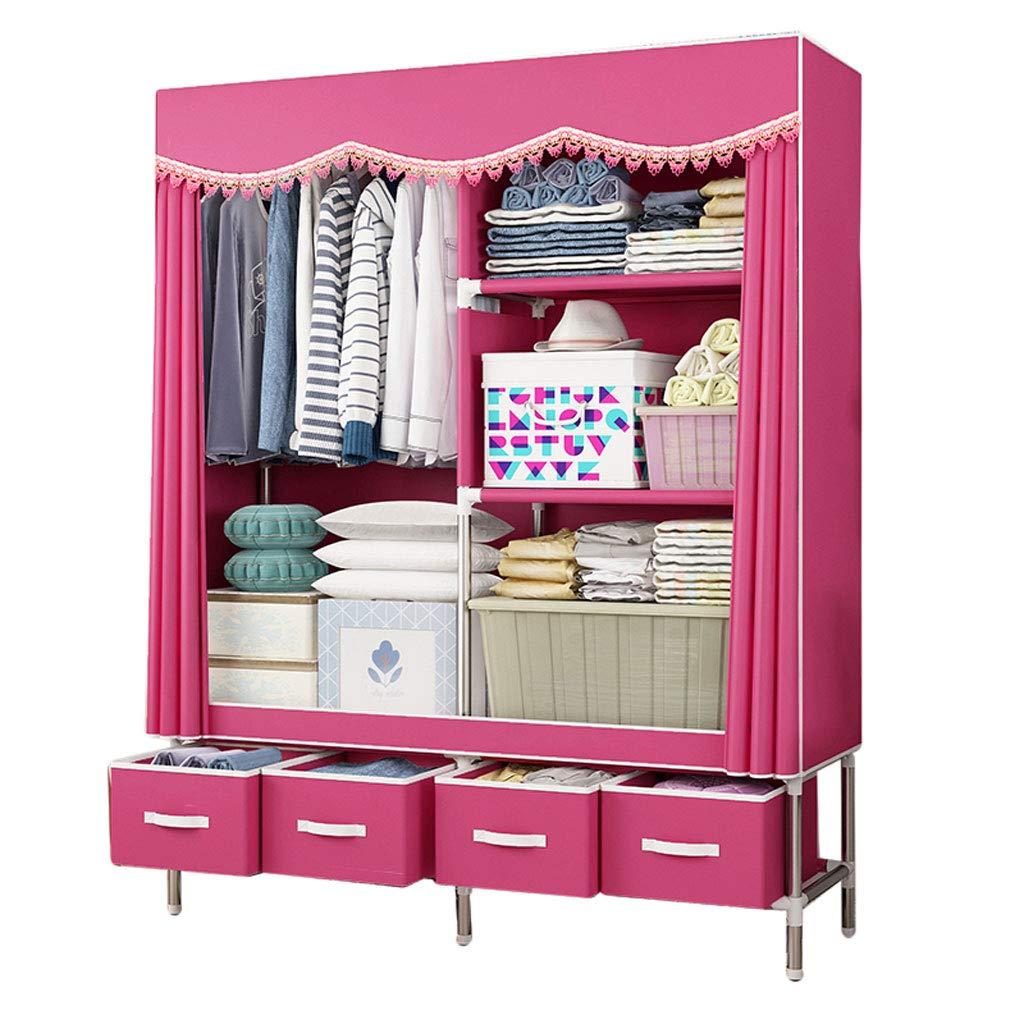 D Simple wardrobe Simple wardrobe 160  45  170cm Steel Tube Oxford Cloth Assembly Storage Wardrobe (color   C)