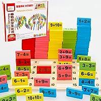 SanwoodenJ Toy Gift Domino Blocks 110Pcs Wooden Domino Mathematics Blocks Educational Toys Baby Early Learning Novelty & Gag Toys