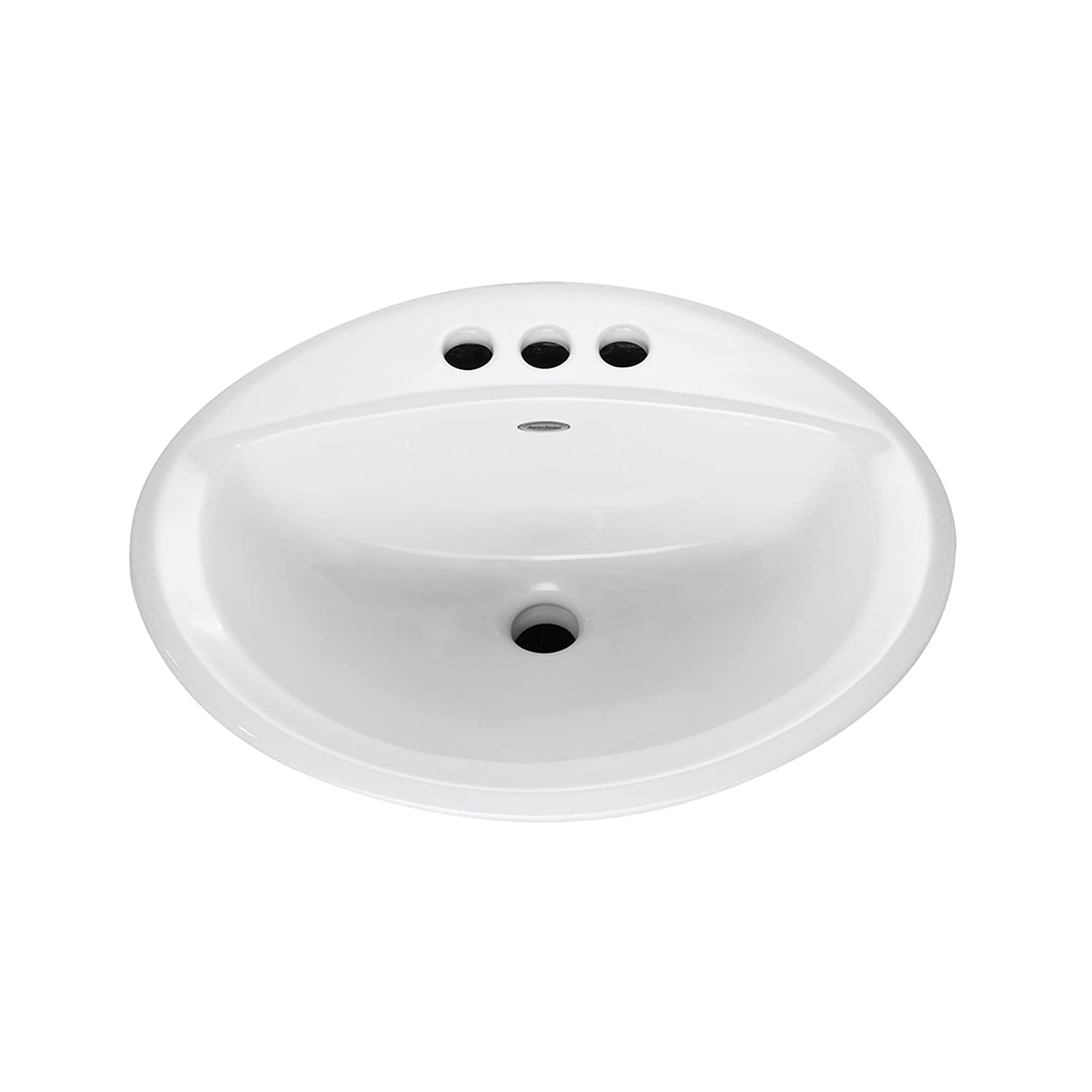 "American Standard 0476028.020 Aqualyn Drop-In Bathroom Sink, 7-5/8 In H X 20-3/8 In W X 17-3/8 In D, Vitreous China 16"" x 10"" White"