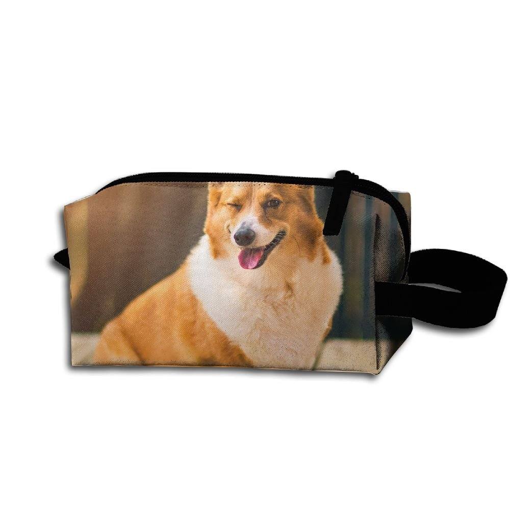 Makeup Cosmetic Bag Dog Face Animal Zip Travel Portable Storage Pouch For Men Women