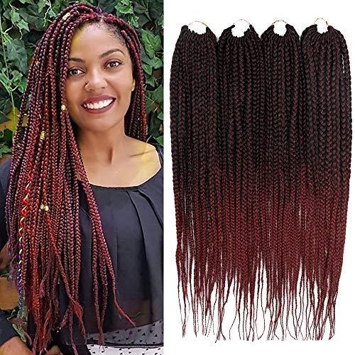 Amazoncom 6packs 18 Box Braids Crochet Braids Mambo Twist 3x