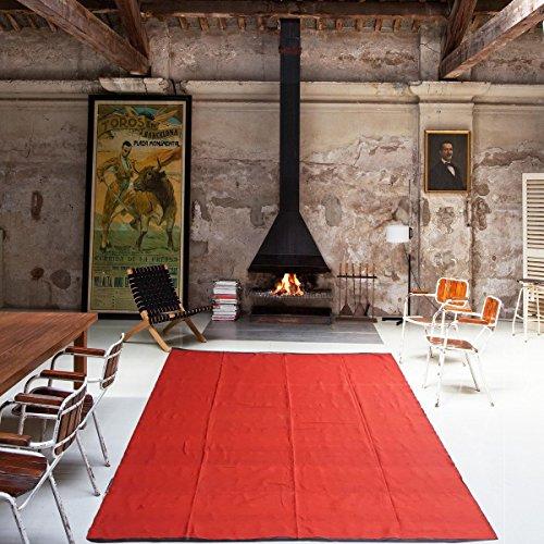 Decornt Premium Cotton Floor Satranji Mat Dari/Dhurrie Galicha Jaipur Rug Solapur Carpet 130 inches X 90 inches - Red