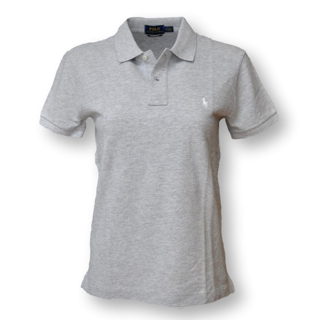 Polo Ralph Lauren Women's Classic Fit Mesh Polo Shirt, Taylor Heather, Small