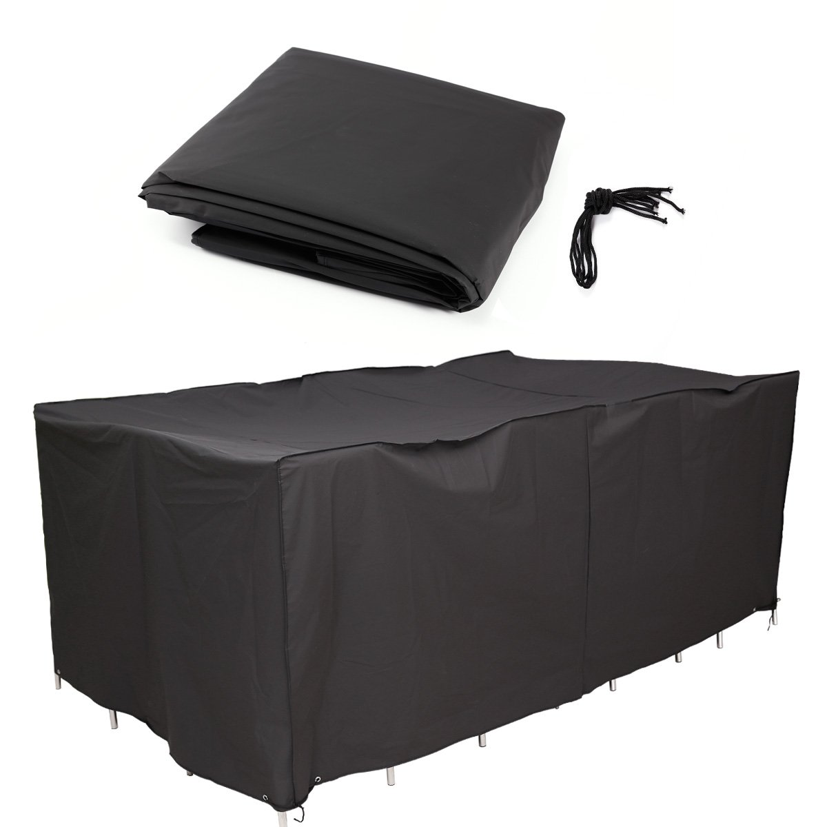 SurePromise LARGE GARDEN PATIO FURNITURE COVER WATERPROOF TABLE CHAIR SHELTER 242 x 162 x 100cm SurePromise Limited