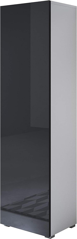 muebles bonitos Armario Luke V5 Color Blanco con Patas est/ándar 40x167cm