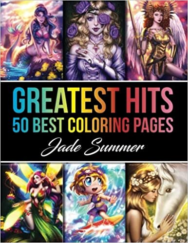Amazon Greatest Hits An Adult Coloring Book With Our 50 Best Pages Perfect Gift For Fans 9781979992657 Jade Summer Books