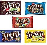 M&M Fun Size Candy Variety Pack - Plain, Peanut, Pretzel, Peanut Butter and New Caramel (5 Pound)
