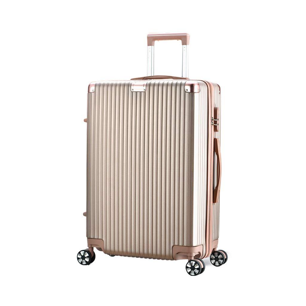 スーツケース旅行ABSハードシェル4ホイールキャリートラベルトロリーハンドキャビン荷物スーツケース、ローズゴールド 42*25*63cm  B07MJPG3CY