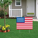 VictoryStore Yard Sign Outdoor Lawn Decorations: American Flag/USA Flag Yard Sign
