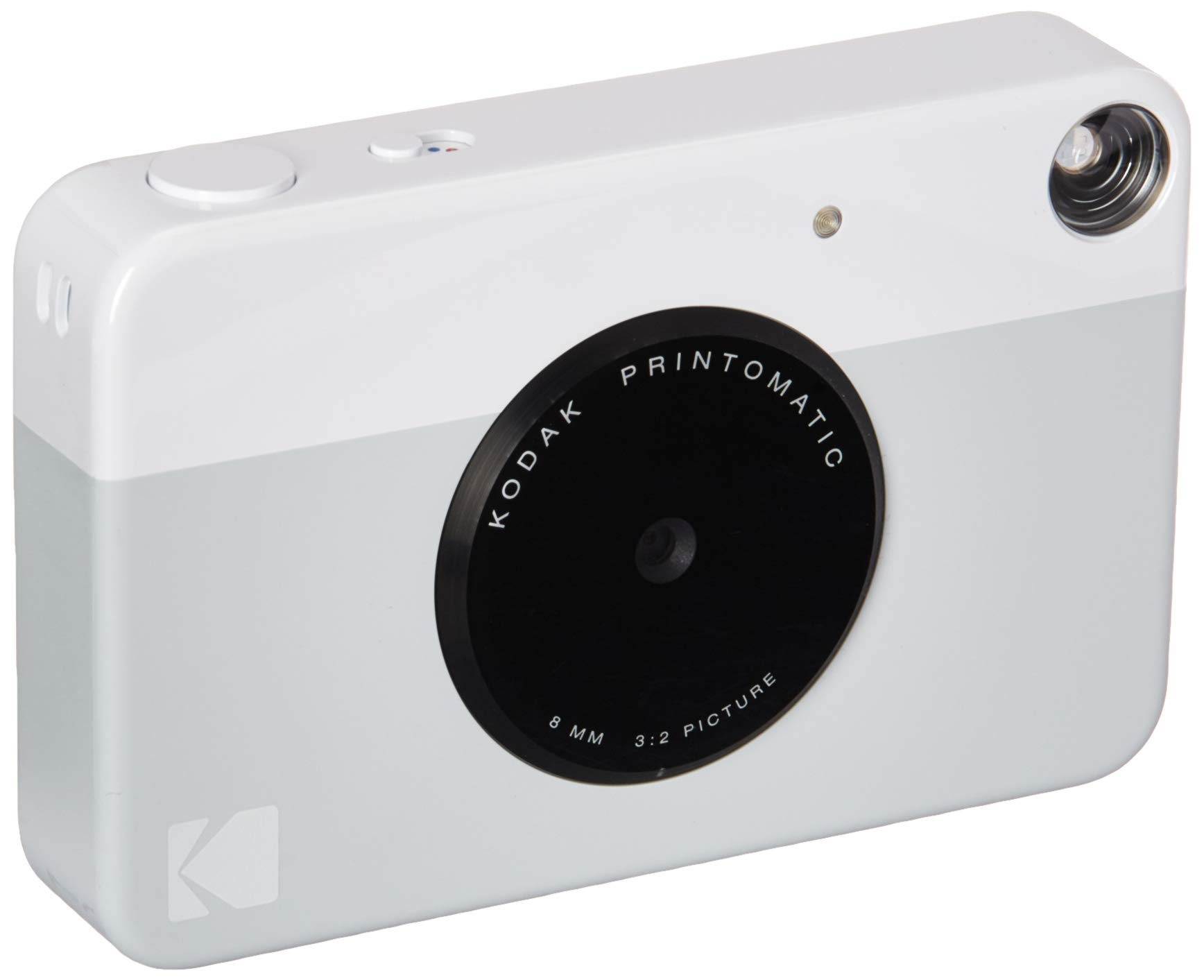 Kodak PRINTOMATIC Digital Instant Print Camera (Grey), Full Color Prints On ZINK 2x3'' Sticky-Backed Photo Paper - Print Memories Instantly