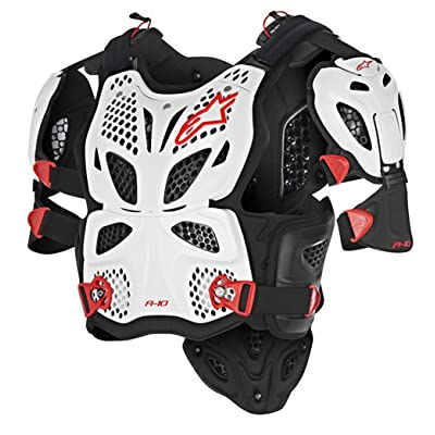 Alpinestars A-10 Full Chest Protector-White/Black/Red-XS/S: Automotive