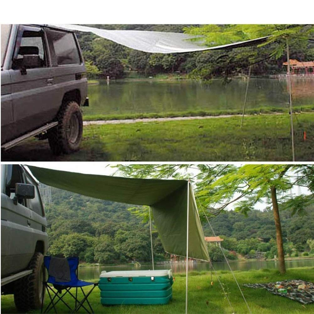 EGECL Car Tent - Folding Sunshade Carports - Anti-UV Roof Top Tent - Car Sun Shelter Awning - Hiking, Climbing, Fishing - Green - 2.8 X 1.8m (Color : Green) by EGECL (Image #8)