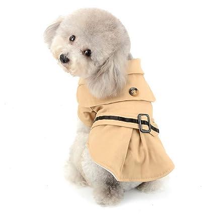 XX-Large Dogit Trench Dog Coat Beige
