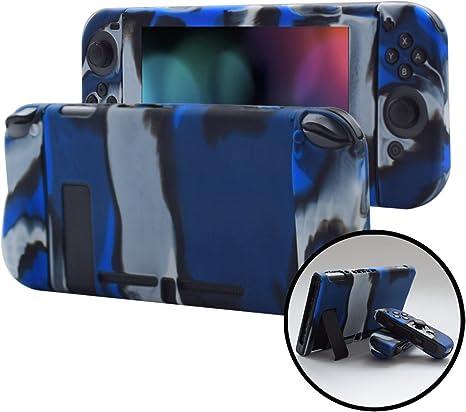 Pandaren - Carcasa para Nintendo Switch Consoles y Joycon 3 en 1 (Silicona, con Protector de Agarre de Mano), Color Azul: Amazon.es: Electrónica