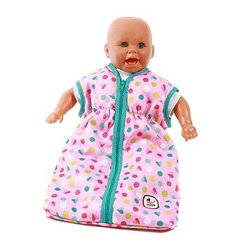 Kleidung & Accessoires Puppen & Zubehör Puppenschlafsack Design Pinky Bubbles