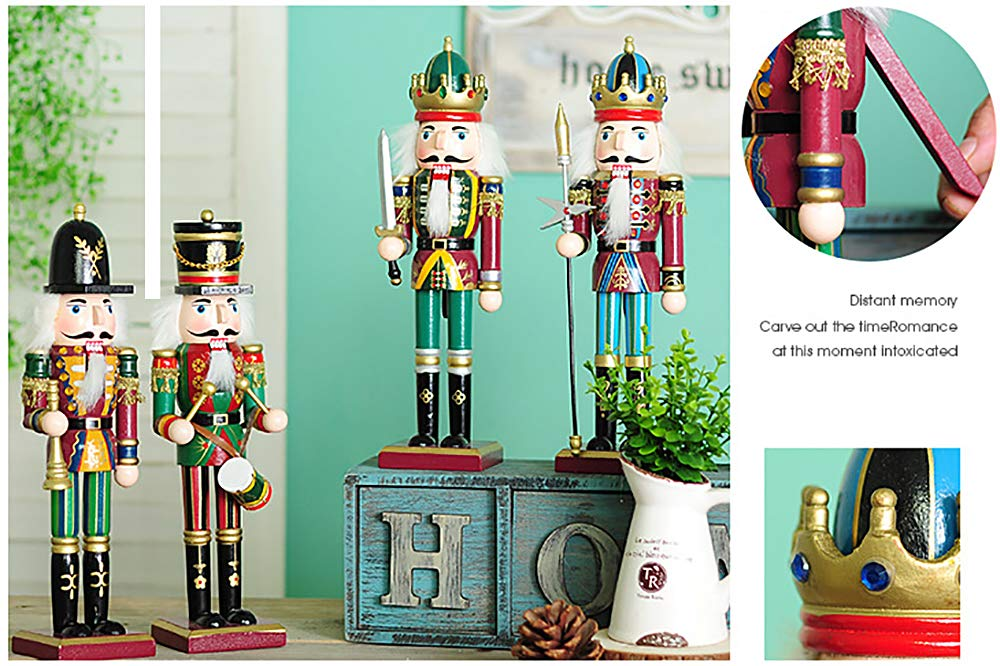 spring country Nutcracker Soldiers Gift Set from Great Decoration Figure Collection to Share a Memory with New Wooden Puppets Christmas 4 Pieces Toy Set 12 inch Toys Holiday Ornament