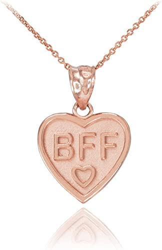 925 Silver Sterling BFF BEST FRIENDS FOREVER LOVE HEART STONE Charm gift box