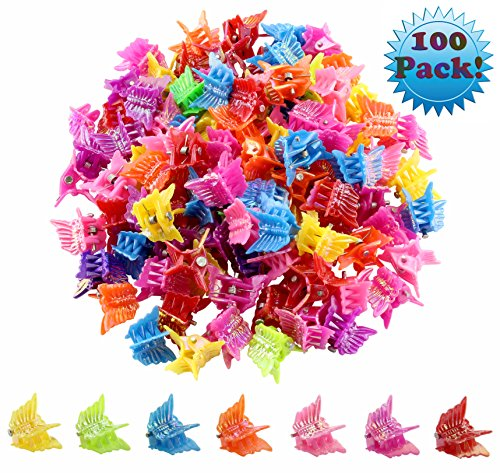 100 Pack of 90's Butterfly Hair Clips, 90's Accessories Hair