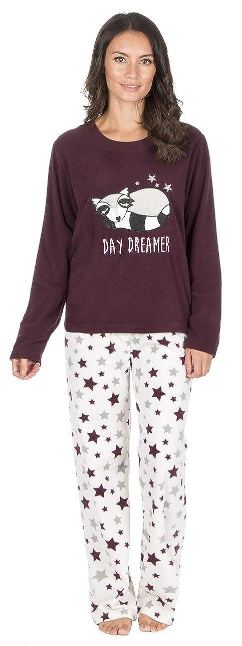 Value Heaven - Pijama - para Mujer Rojo Burgundy Fox Top/White Star - Day Dreamer L: Amazon.es: Ropa y accesorios