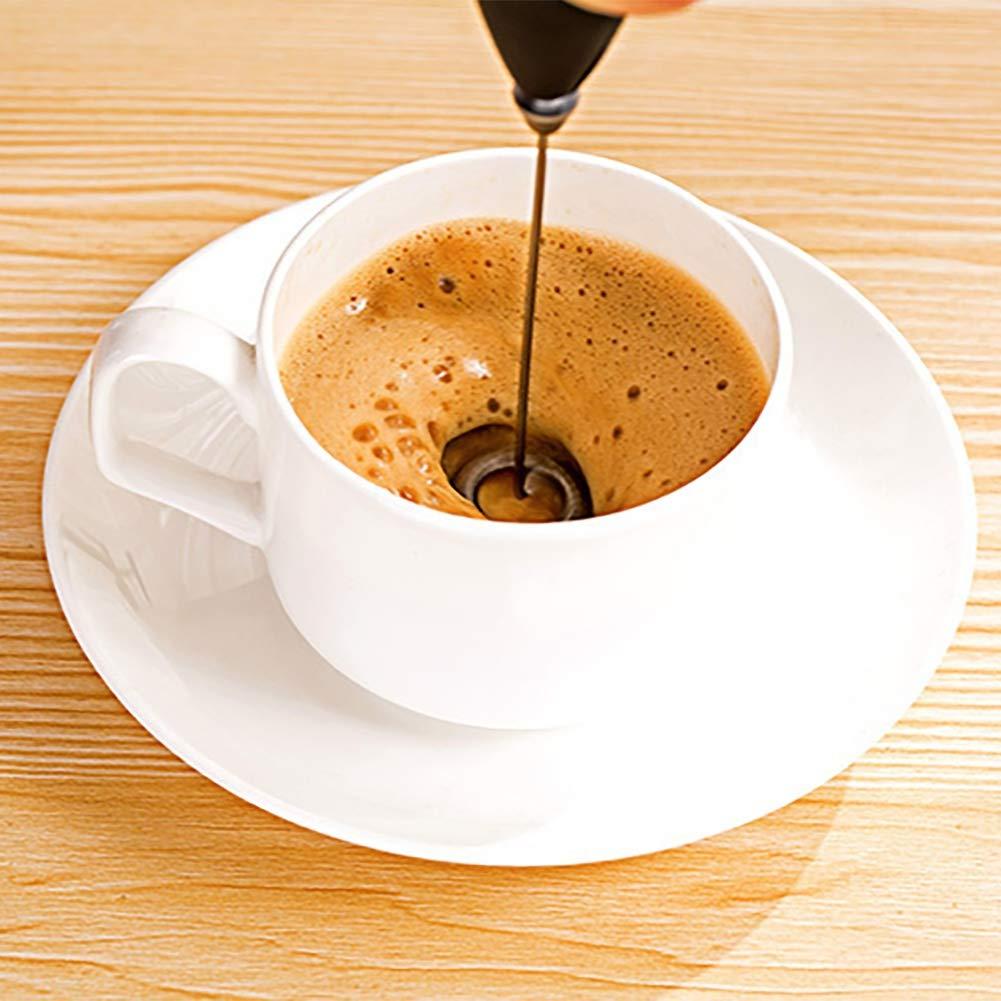 loveble cafetera eléctrica baqueta de leche de bolsillo batidor de mano eléctrico para los blancos de huevos, mini Smoothie Blender café Latte Chocolate ...