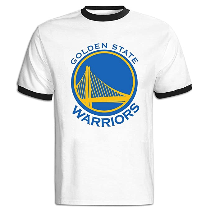 Golden State Warriors Gentleman de manga corta Camisetas Fashion Negro negro XXL