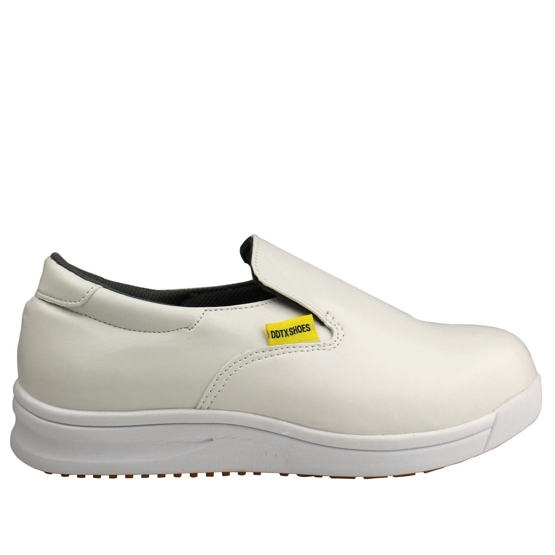 DDTX Unisex-Adult'Slip y aceite resistente a la industria ligera Zapatos de la Industria Blanco(38) AEKdB7