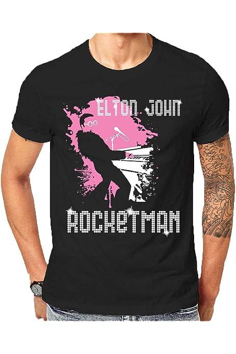 BITH Elton John Womens Long Sleeve Sweater Black Rocketman Rock Icon Piano Player Hoodie Black