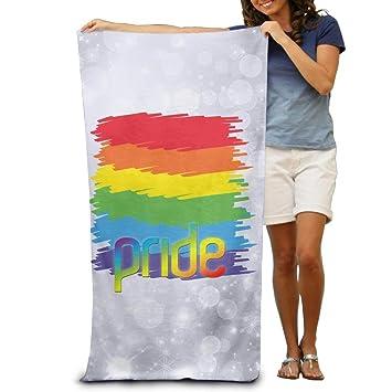 fe1c165d9 Dutars Toalla de baño Funny LGBT Gay Pride Suave y Ligera Toalla de Playa para  alberca 30 x 50  Amazon.es  Hogar