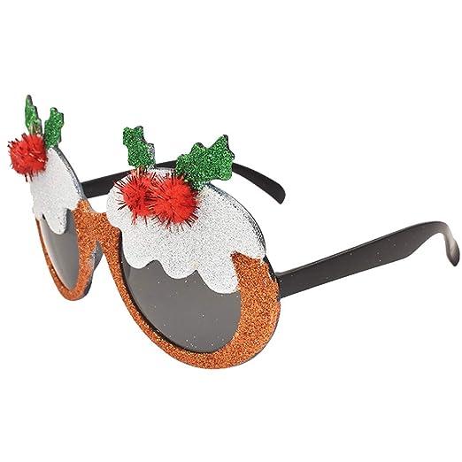 BESTOYARD Gafas de Sol Brillo para Accesorio de Disfraz de Navidad ...