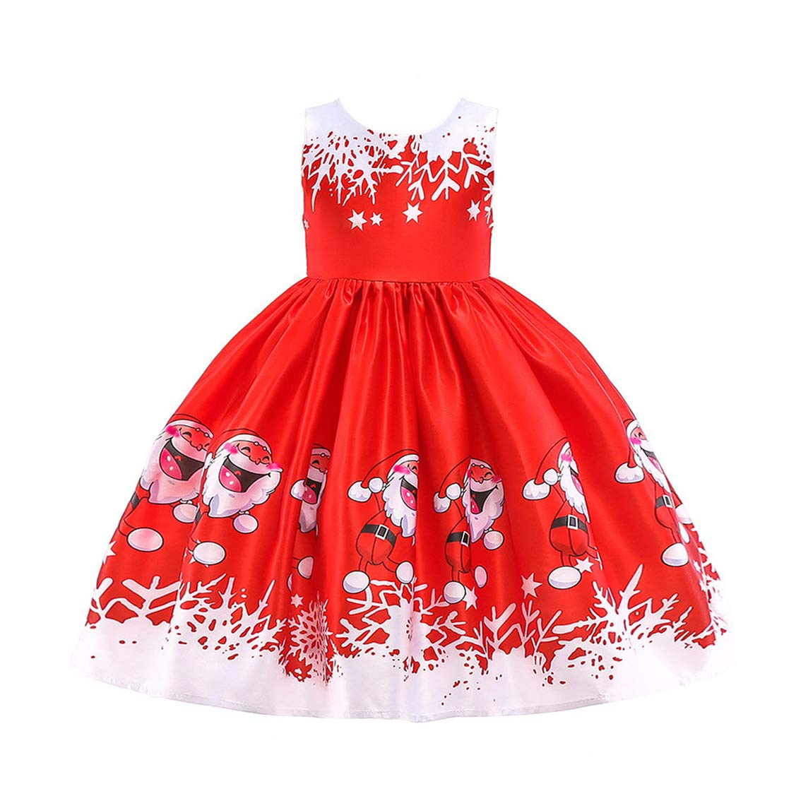 LZH Girls Party Dress Princess White Wedding Lace Dresses