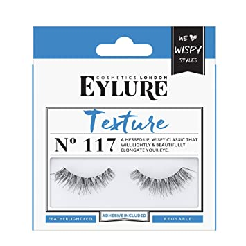 b664b81ca68 Amazon.com: Eylure Pre-Glued 117 False Eyelashes, Black: Beauty