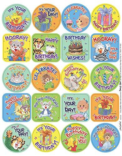 Eureka Suzy's Zoo Birthday Die Cut Stickers, Theme (655072)